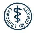"""Bild: Münze """"Landarzt im Dienst"""" mit zentralem Aesculapstab"""""""