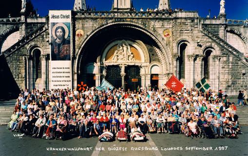 fahrt der Diözese Augsburg nach Nevers und Lourdes 1997