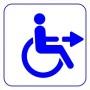 Bild: Blaues Rollstuhlsymbol